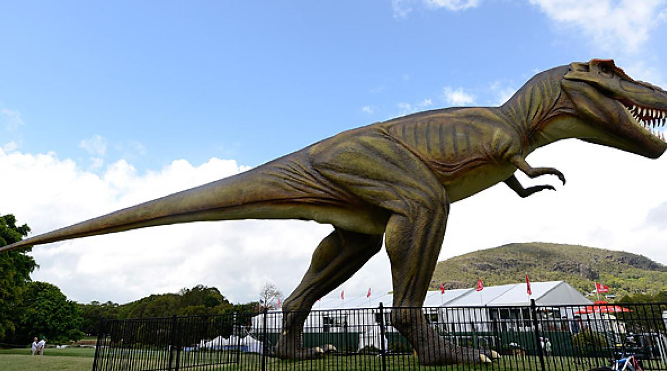 A 26-foot mechanical T-Rex generated international headlines at the 2012 Australian PGA.