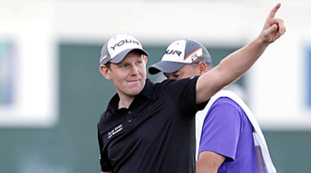 Stephen Gallacher fended off Richard Sterne by three shots in Dubai.