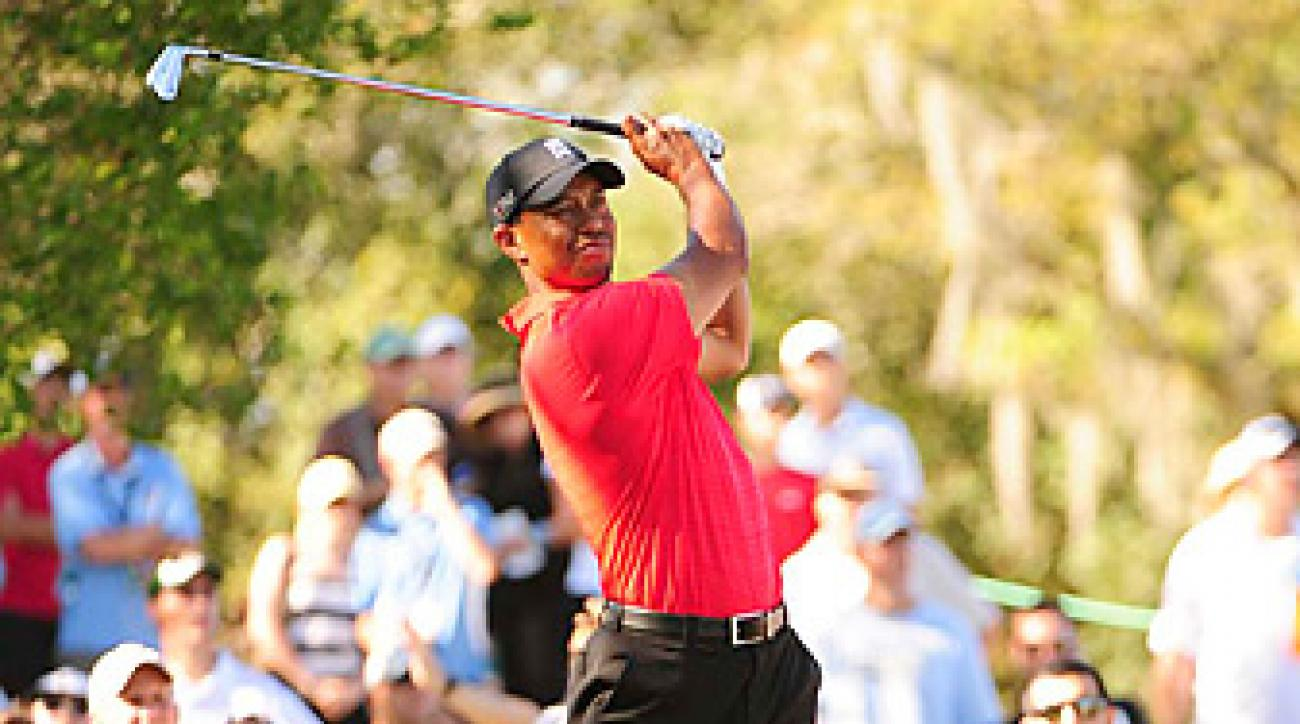 Tiger Woods won by five shots at Bay Hill.