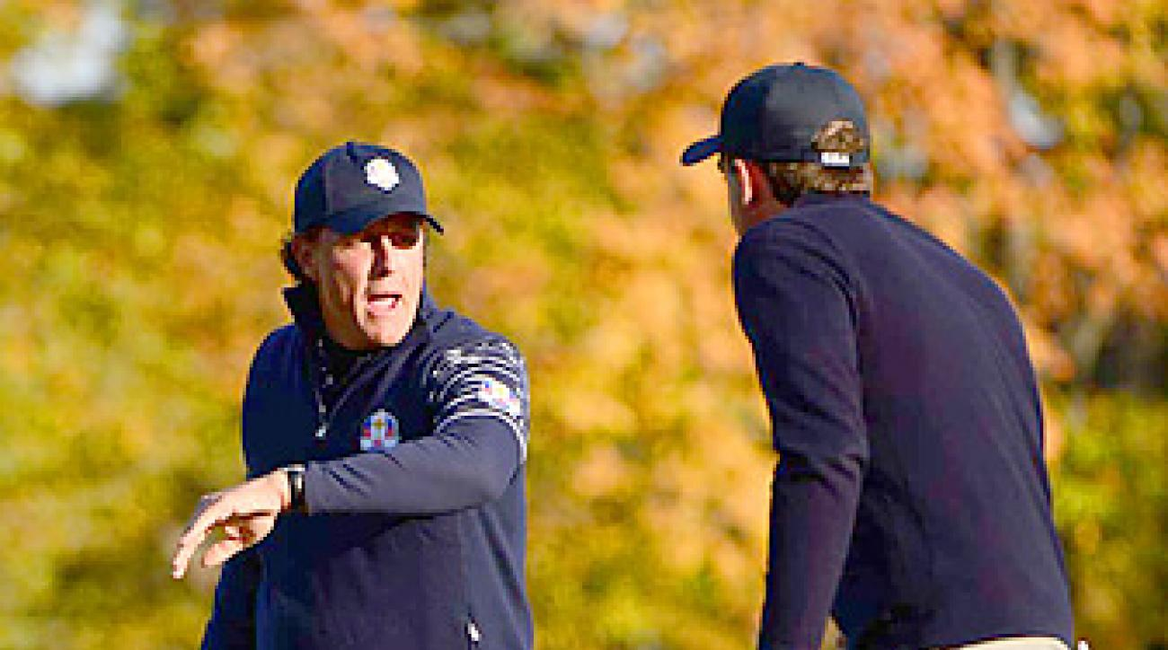 Phil Mickelson and Keegan Bradley went 3-0 as a team during the first two days.