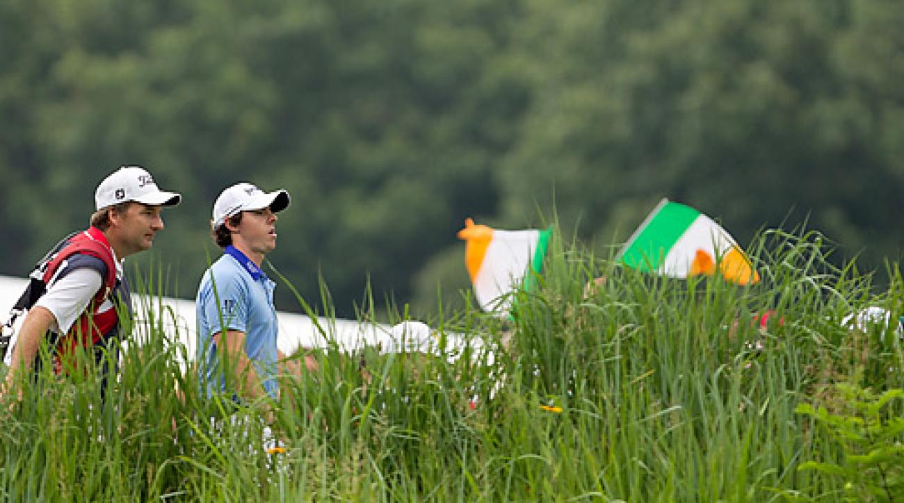 McIlroy, shown here at the 2011 U.S. Open at Congressional, which he won, can't escape the question surrounding his national identity.