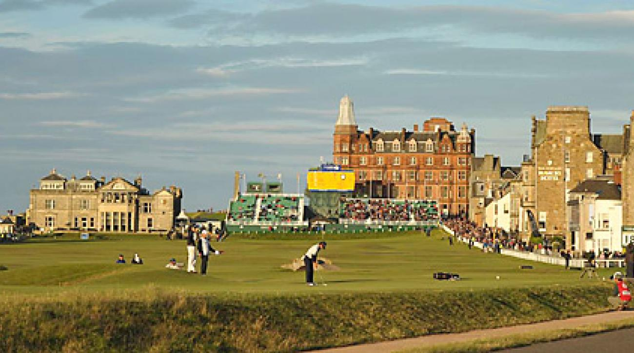 The Old Course at St. Andrews, shown here during the 2010 British Open, is currently undergoing a renovation.