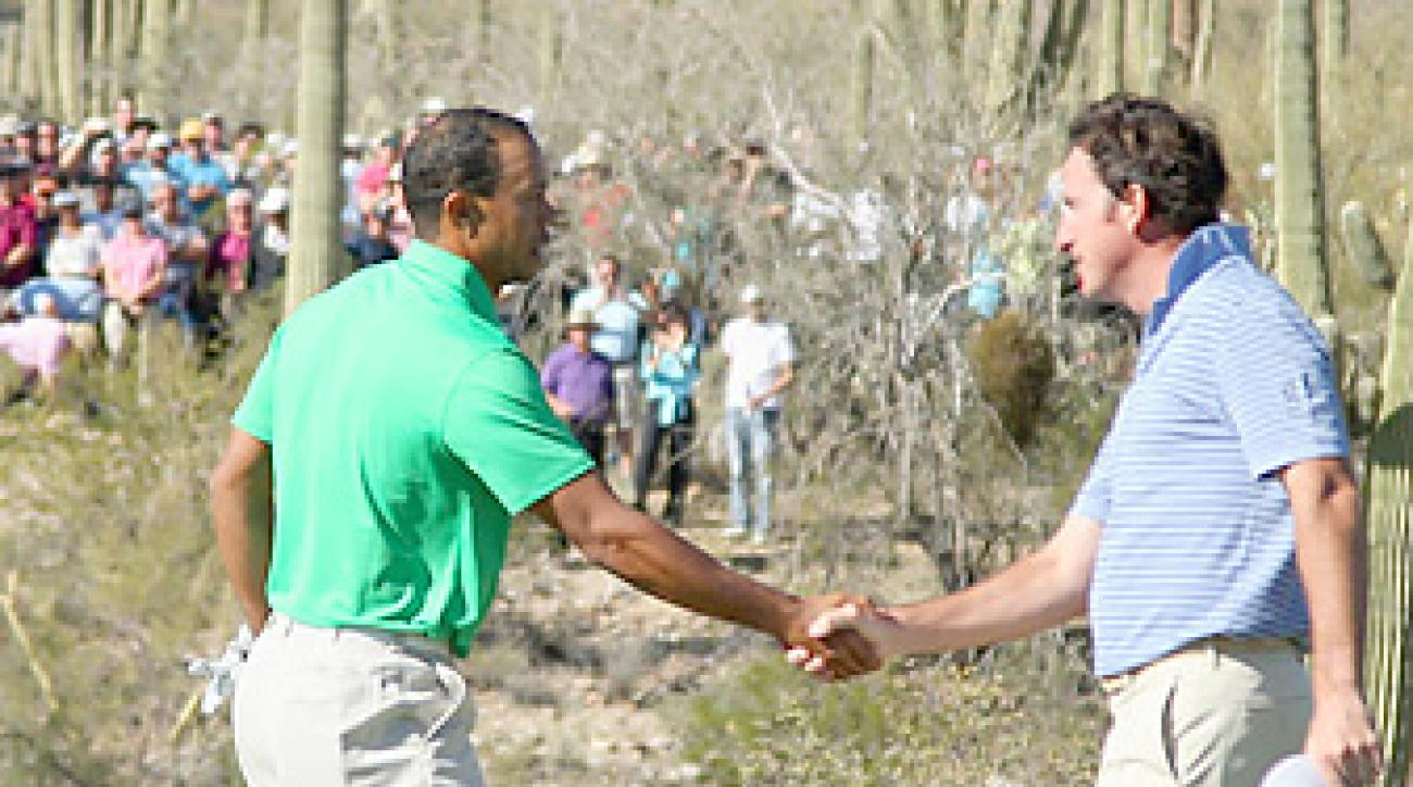 Tiger Woods went to the 18th hole in the opening round for the fourth time in his career.