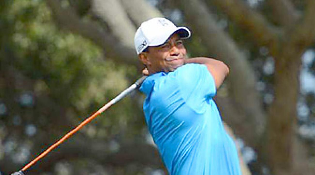 Tiger Woods shot a 71 in the second round.