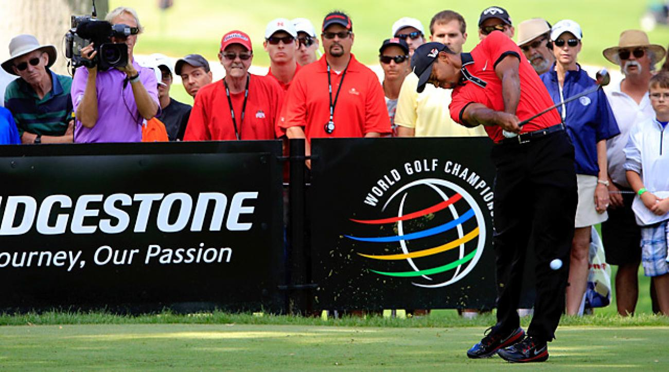 Tiger Woods won the Bridgestone Invitational by seven shots.