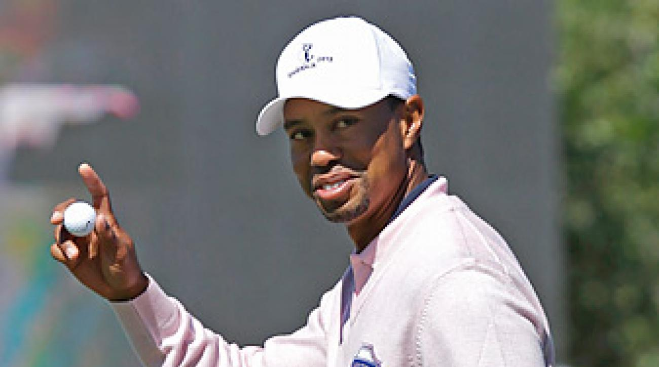 Tiger Woods shot a 73 on Tuesday at the Tavistock Cup.