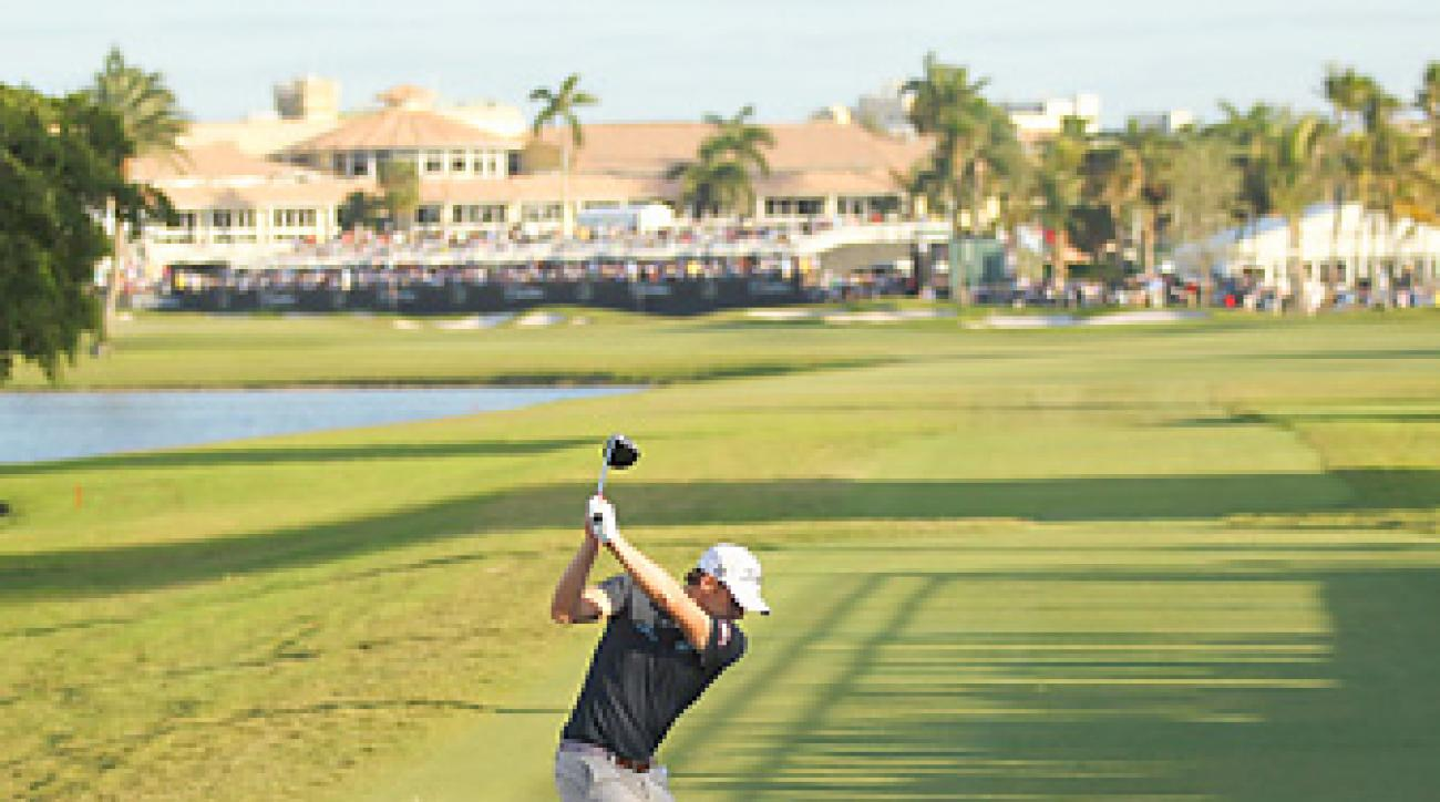 Nick Watney handled Doral's tough finishing hole while winning the 2011 WGC-Cadillac Championship.