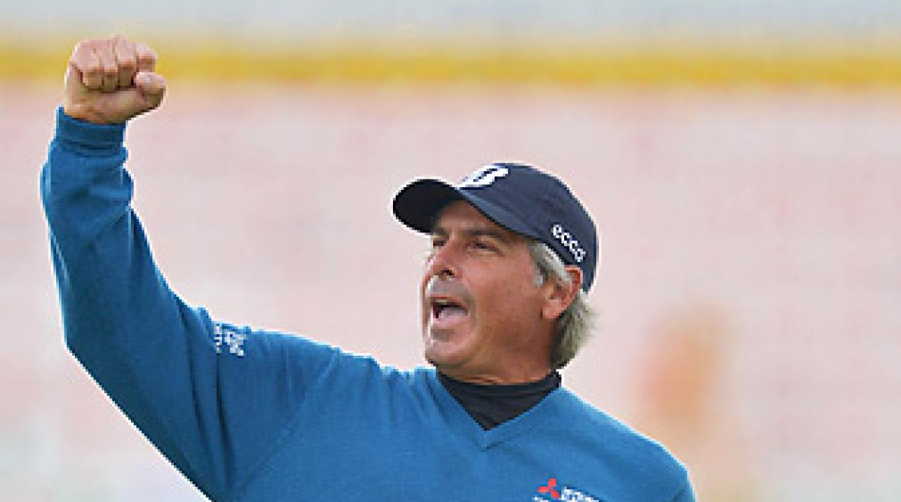 Fred Couples shot a 67 in the final round to win the Senior British Open by two shots.