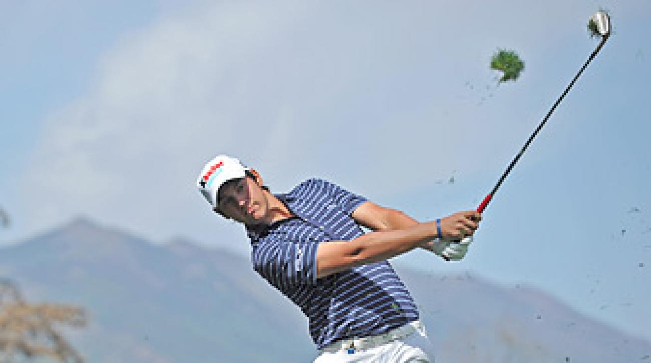 Matteo Manassero matched the course record with a 64 at the Andalucian Open.