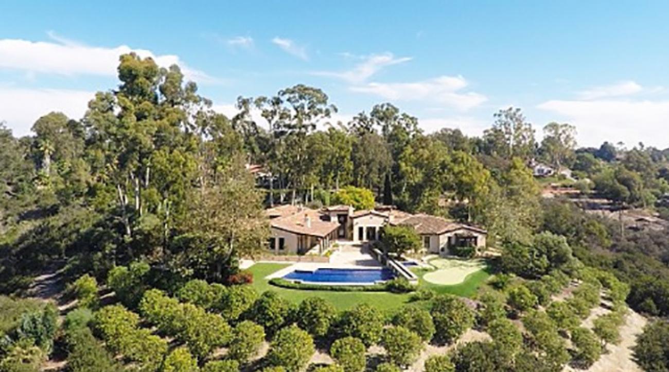 Phil Mickelson's Rancho Santa Fe home.