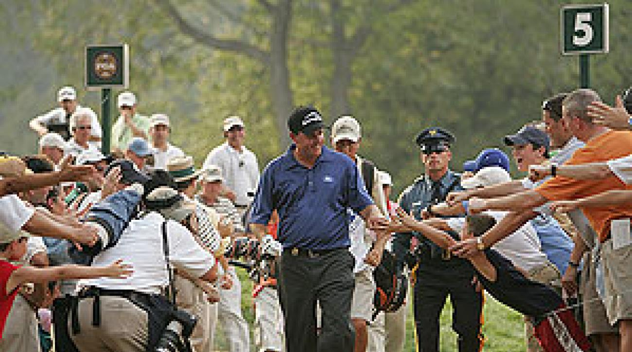Phil Mickelson Sunday at Baltusrol.