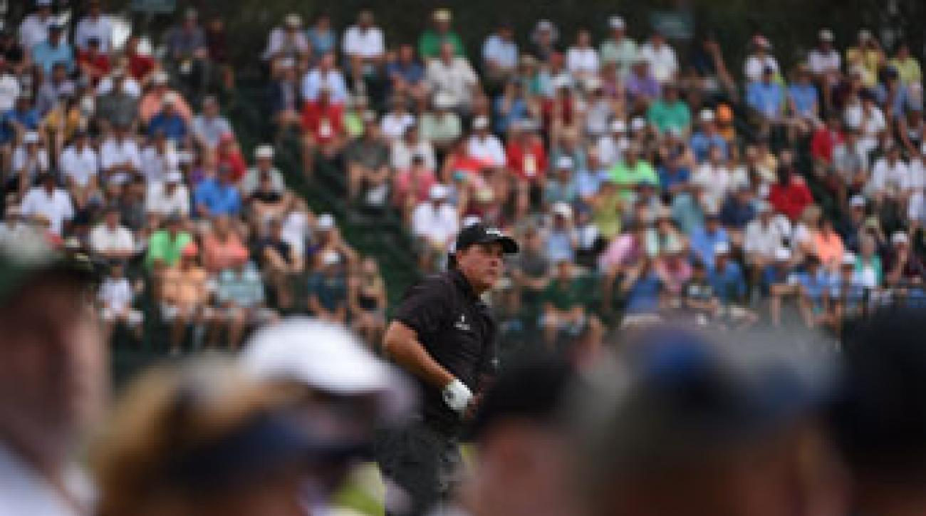 Phil Mickelson kept himself in the hunt for an elusive U.S. Open title with a first-round 70 at Pinehurst.