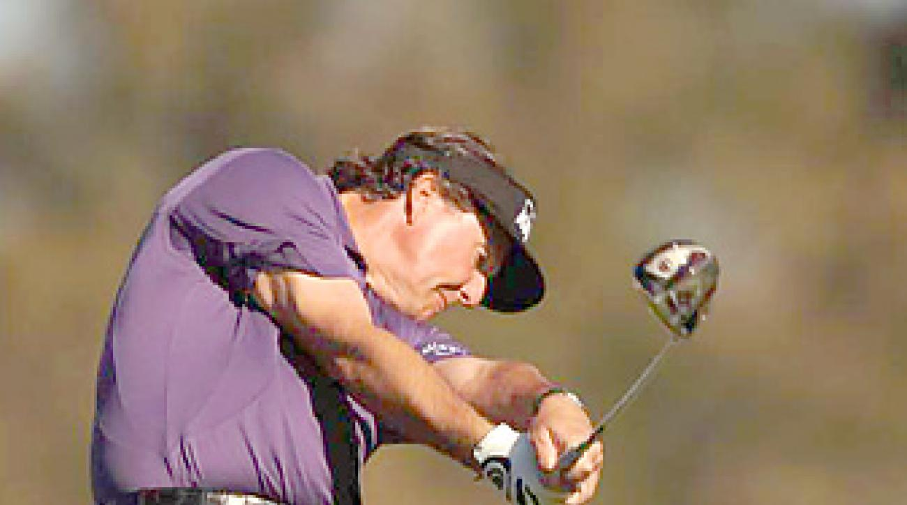 Phil Mickelson is coming off a missed cut at Torrey Pines.