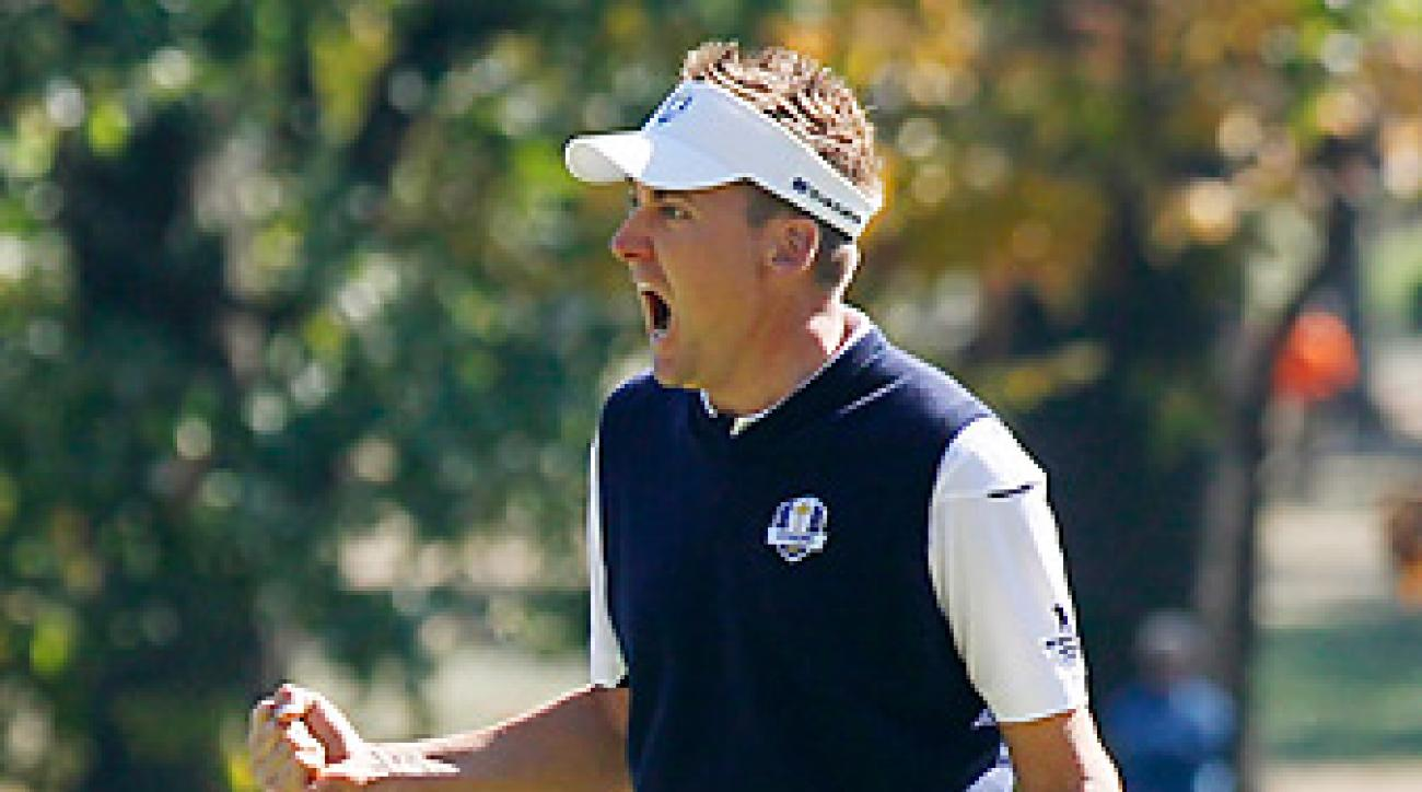 Ian Poulter went 4-0 at the Ryder Cup -- and let everyone hear about it.