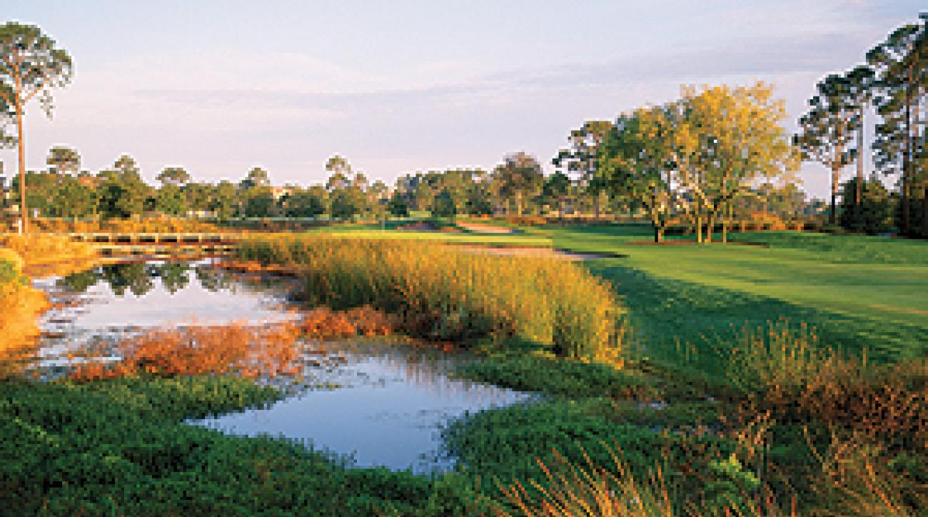 The par 4 18th at the Raven Course at Sandestin can make or break your round.