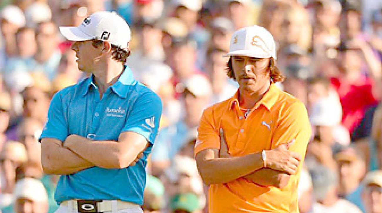 Rory McIlroy and Rickie Fowler are both 23 years old.