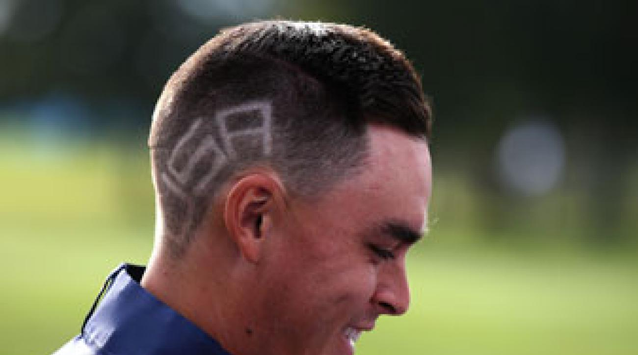Rickie Fowler's American-themed haircut.