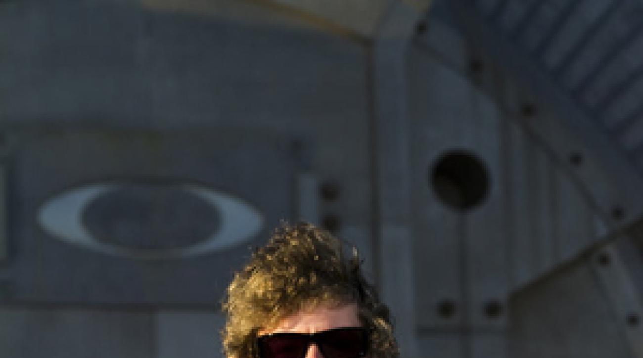 Rory McIlroy wearing Oakley