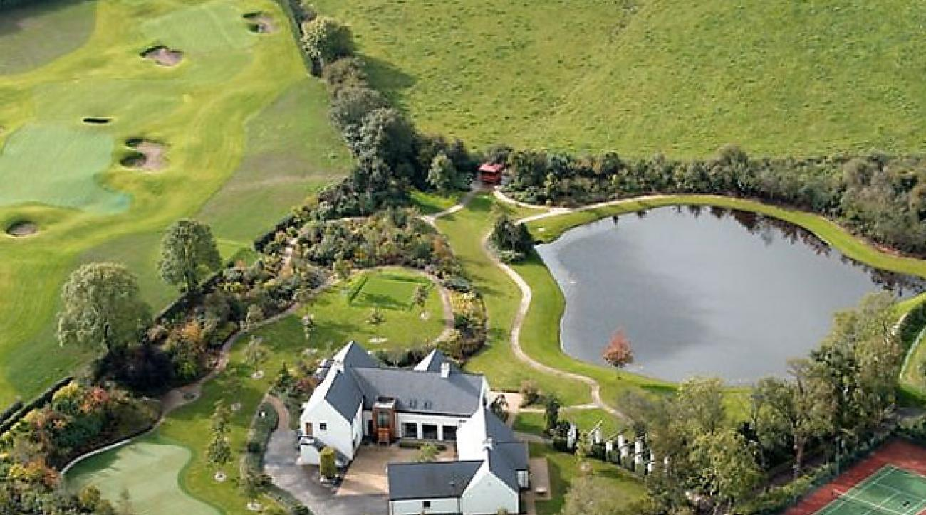 An aerial view of Robinhall House in Castlereagh, Northern Ireland.