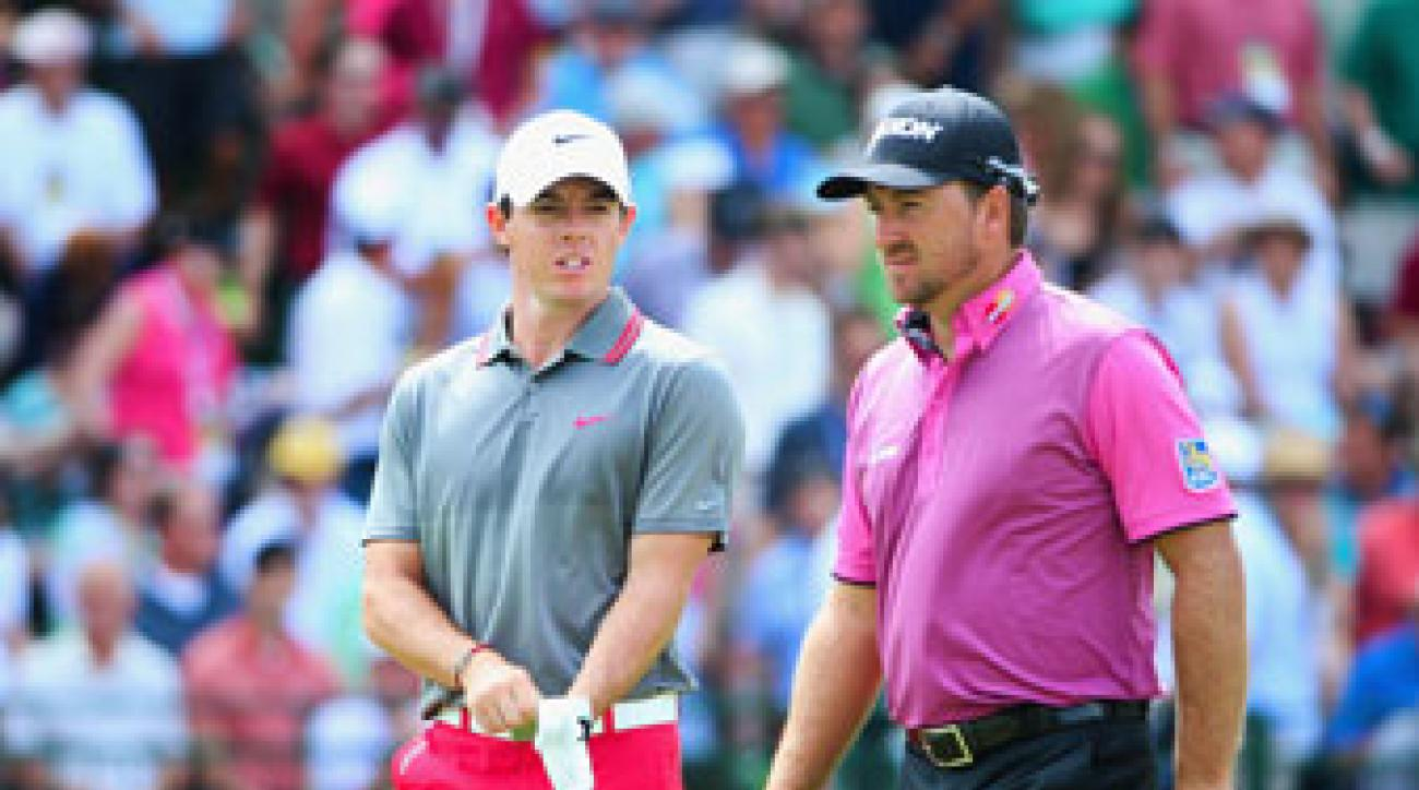 Rory Mclroy and Graeme McDowell at the U.S. Open last June.
