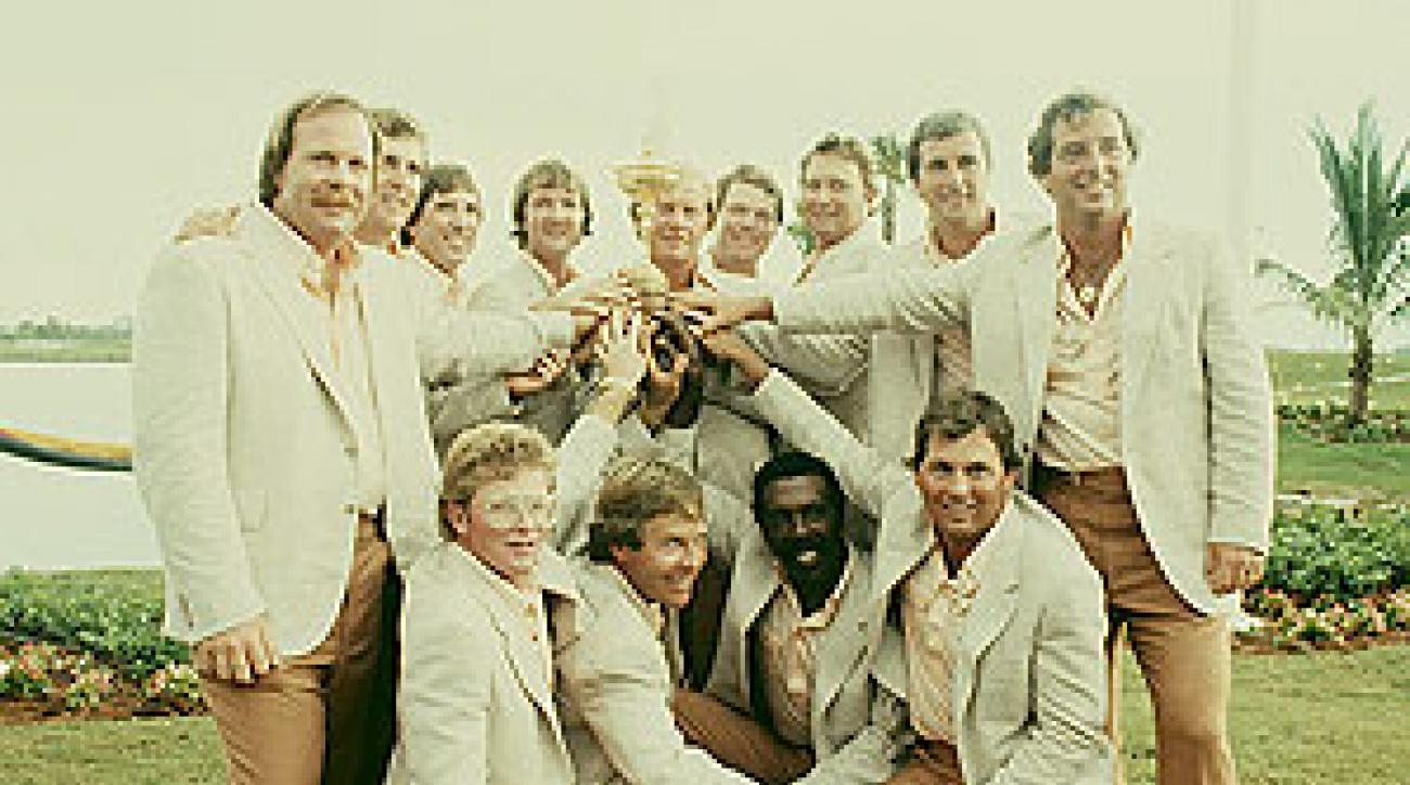 """In 1983, Nicklaus said of Wadkins: """"Lanny, that little son of a gun. He needs a wheelbarrow to carry his brass around."""""""