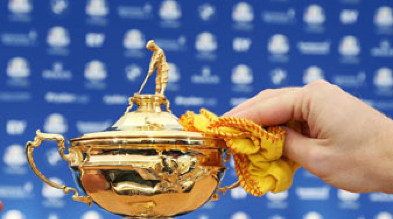 The Ryder Cup at Gleneagles Golf Course, Perthshire.