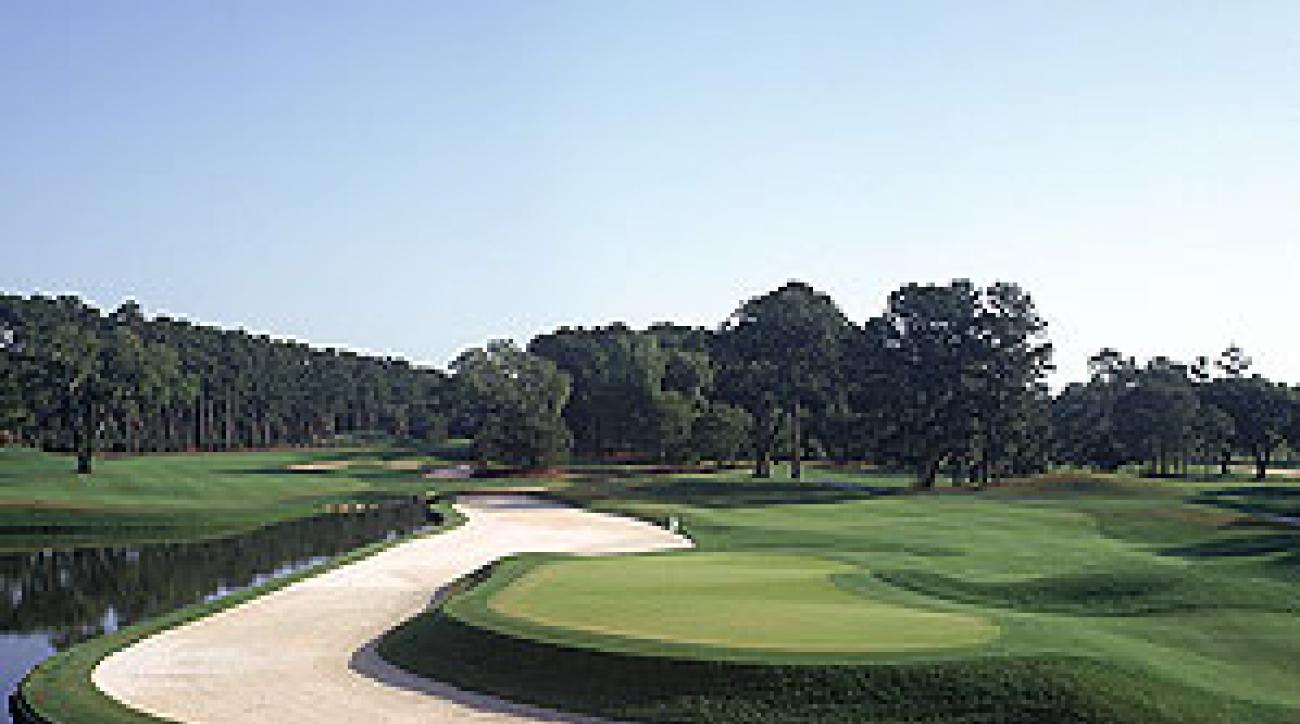 The par-5 11th hole at Sawgrass, a trophy course that makes the ultimate stocking stuffer.