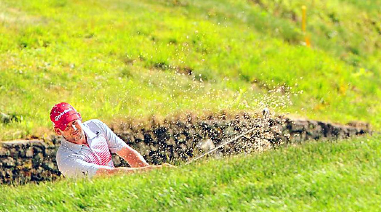 Sergio Garcia rallied late in his round to shoot a three-over 73 on Thursday at Merion.