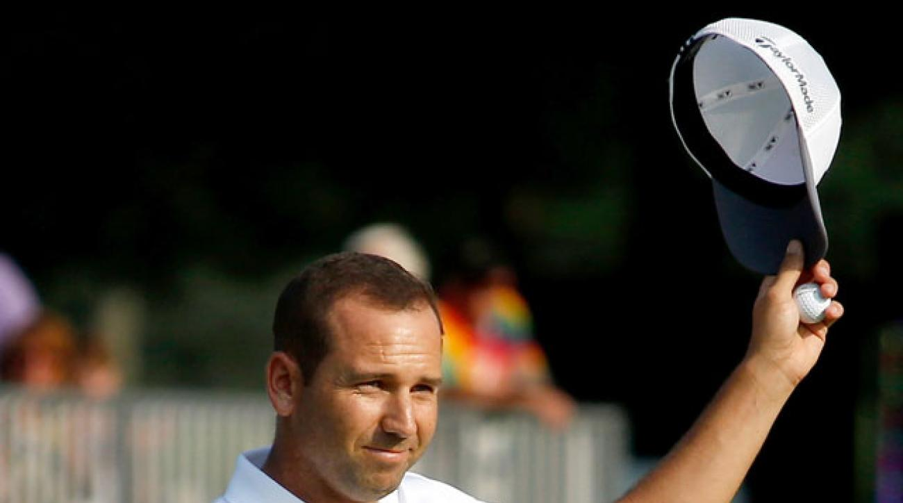 Sergio Garcia tied the course record with a 61 on Friday at Firestone.
