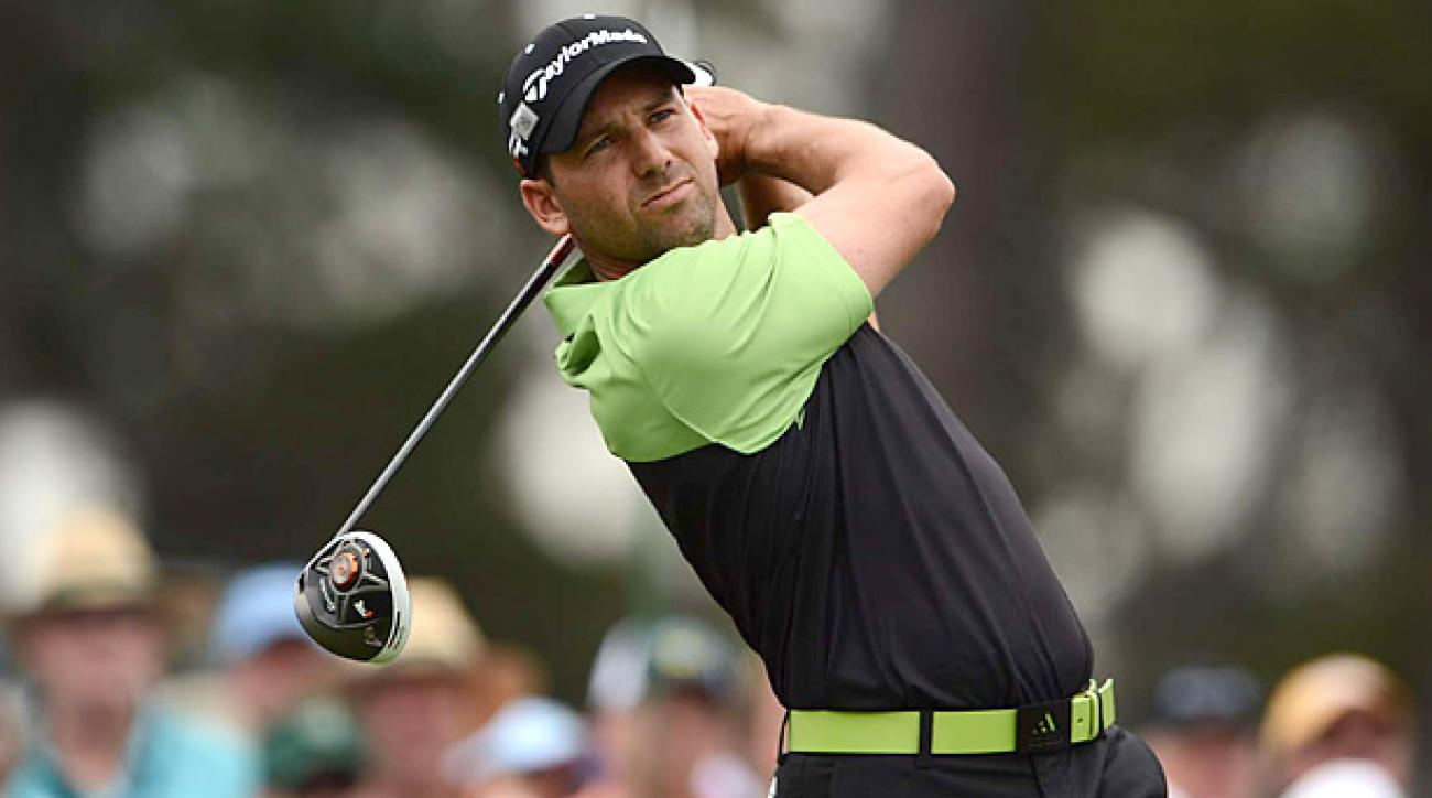 Sergio Garcia matched a personal best at Augusta with an opening-round 66.