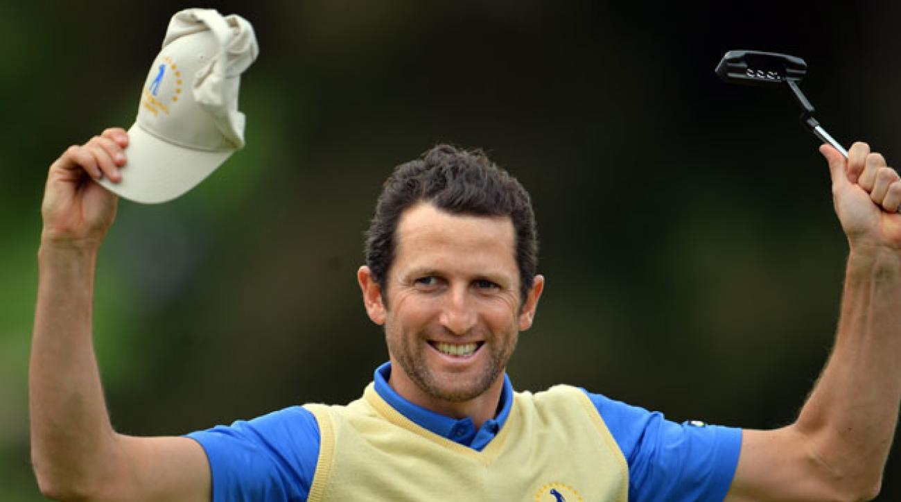 Gregory Bourdy is the first player ever to go unbeaten in five Seve Trophy matches.