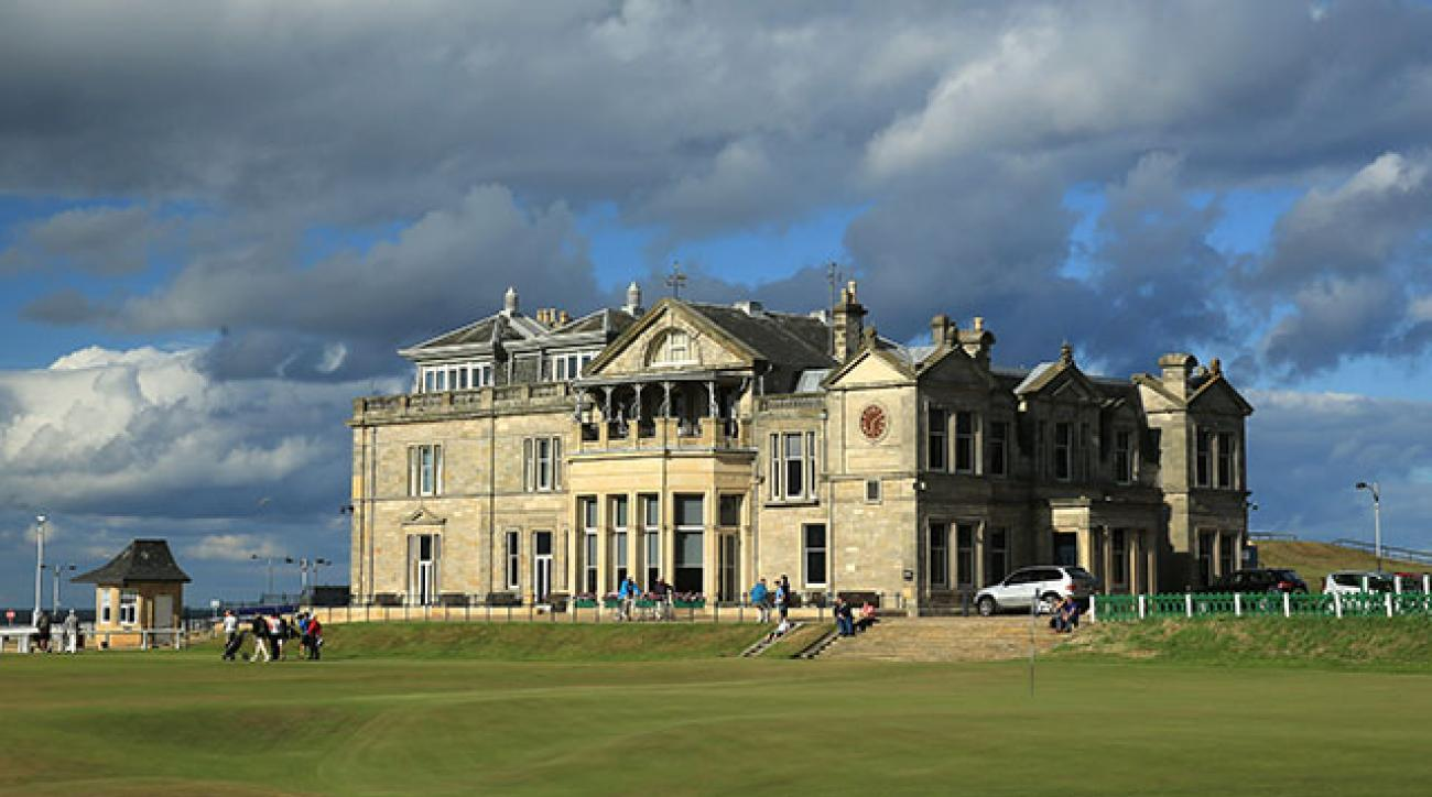 The clubhouse of the Royal & Ancient Golf Club of St. Andrews.