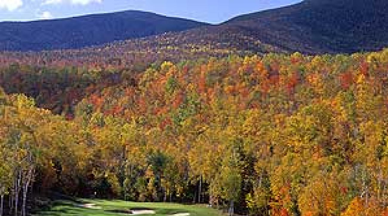 The 10th hole at Sugarloaf Golf Club in Maine.