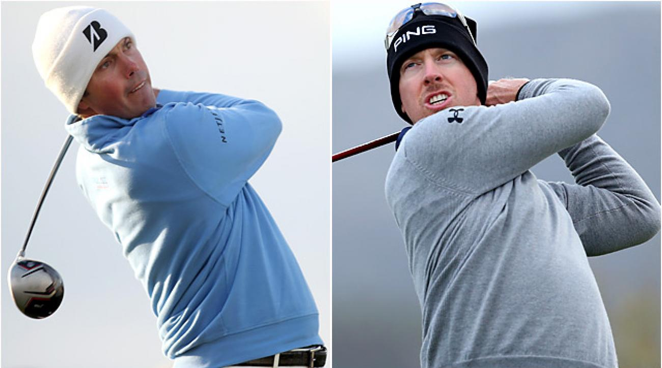 Hunter Mahan and Matt Kuchar face off in the final at the Match Play Championship.