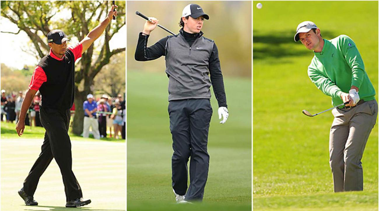 The current top three players in the world -- Tiger Woods, Rory McIlroy and Justin Rose -- are in different stages of their Masters preparation.