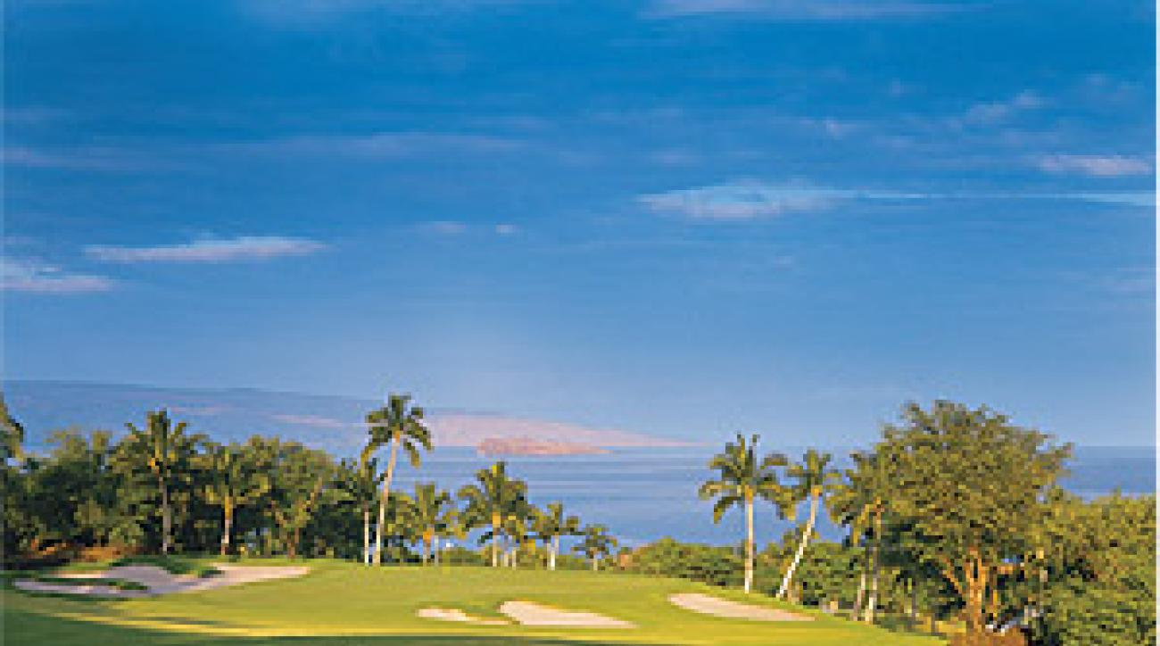 The 216-yard eighth hole atWailea's Gold Course.