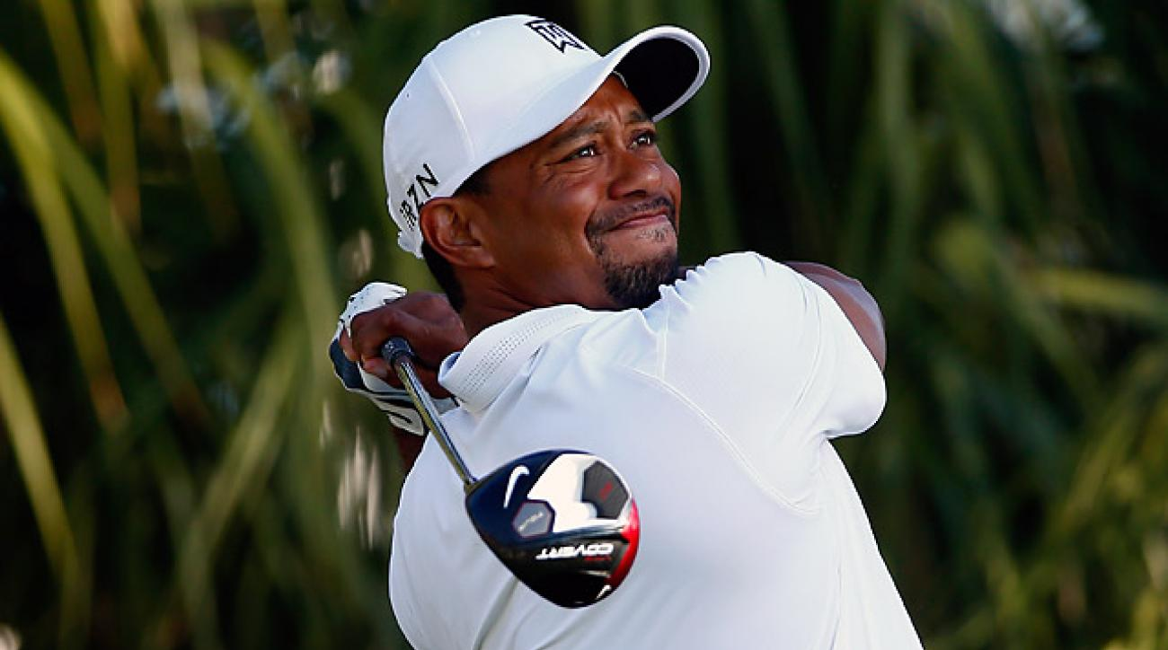 Tiger Woods carded seven birdies on Saturday en route to a 5-under 65.