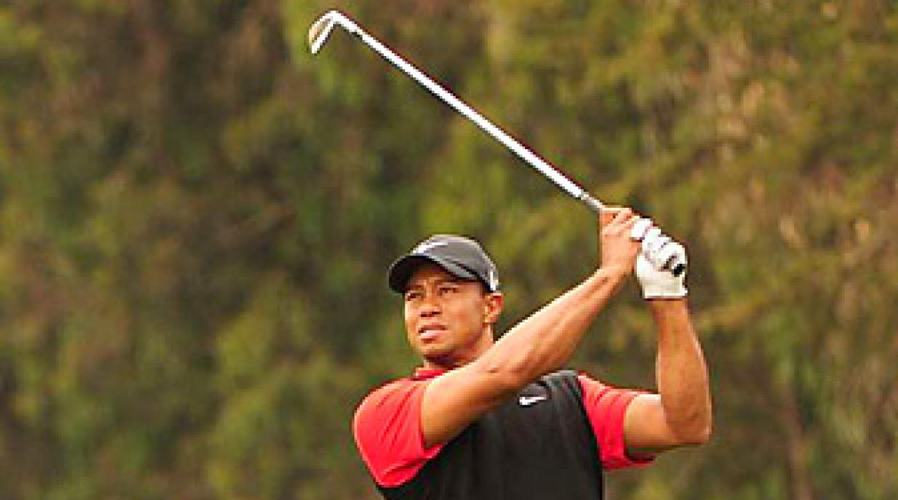 Tiger Woods was tied for the lead through 36 holes, but faded badly on the weekend.