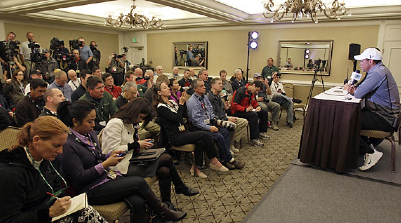 Tiger Woods appeared confident and relaxed at his Pebble Beach press conference on Wednesday.