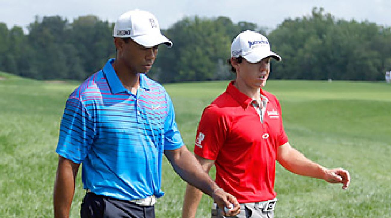 Tiger Woods and Rory McIlroy will be at the center of the golf world again in 2013.
