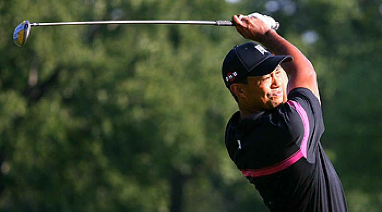Tiger Woods Thursday at Ridgewood C.C.