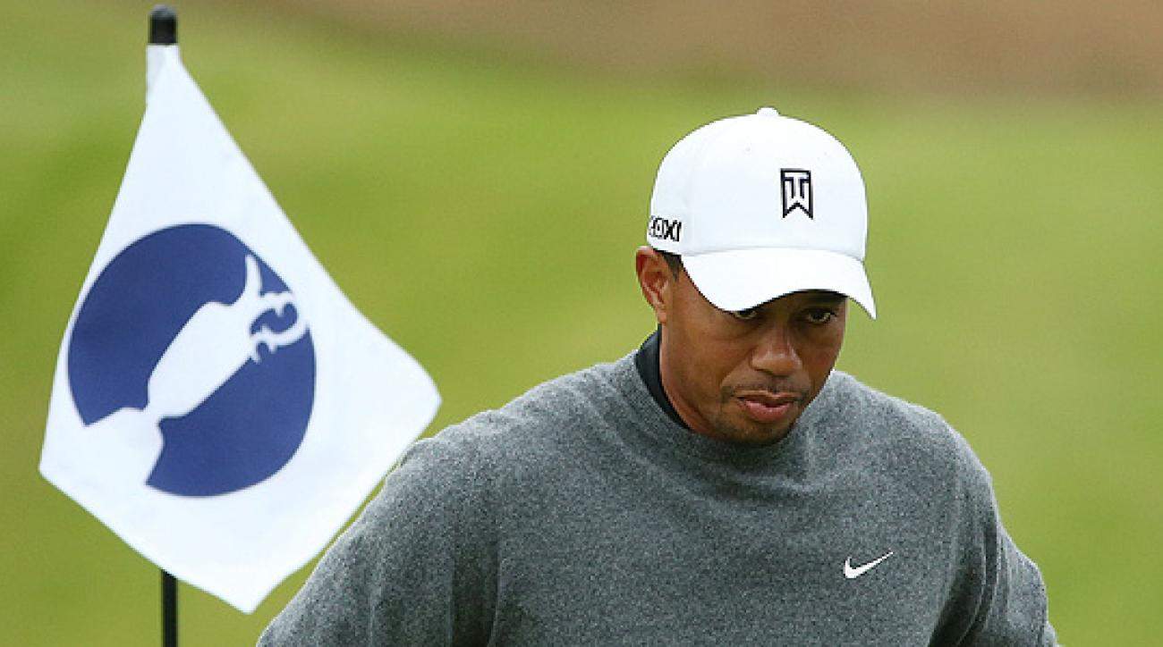 Tiger Woods at Royal Lytham & St. Annes Monday