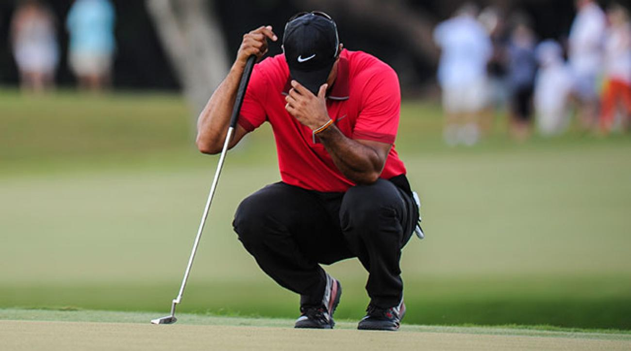 Tiger Woods seemed to struggle with back pain during his final round at Doral.