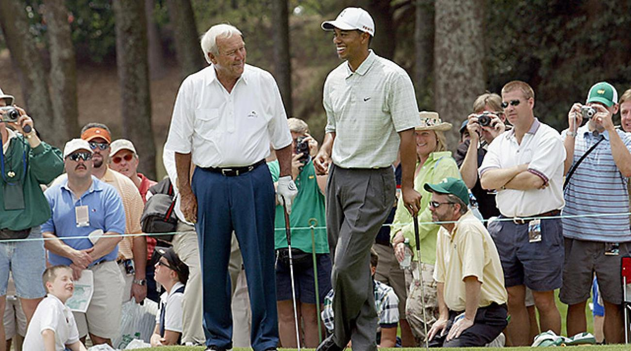 Arnie played in 50 consecutive Masters Tournaments, and that's one record Tiger says he's not interested in breaking.