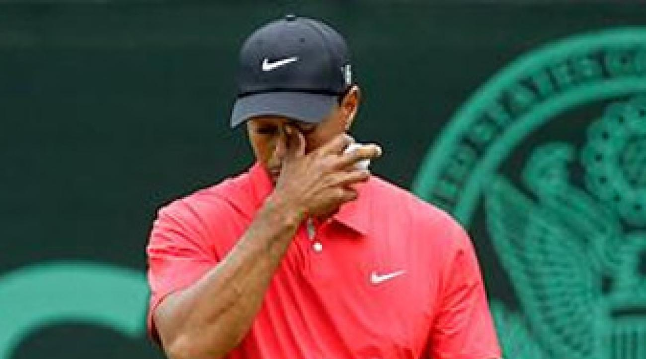 Woods shots a four-over 74 in the final round to finish at 13 over.