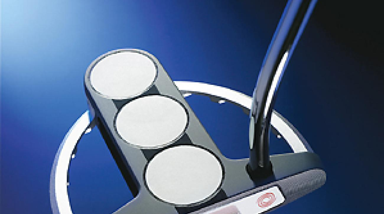 Odyssey White Steel Tri-Ball SRT putter.