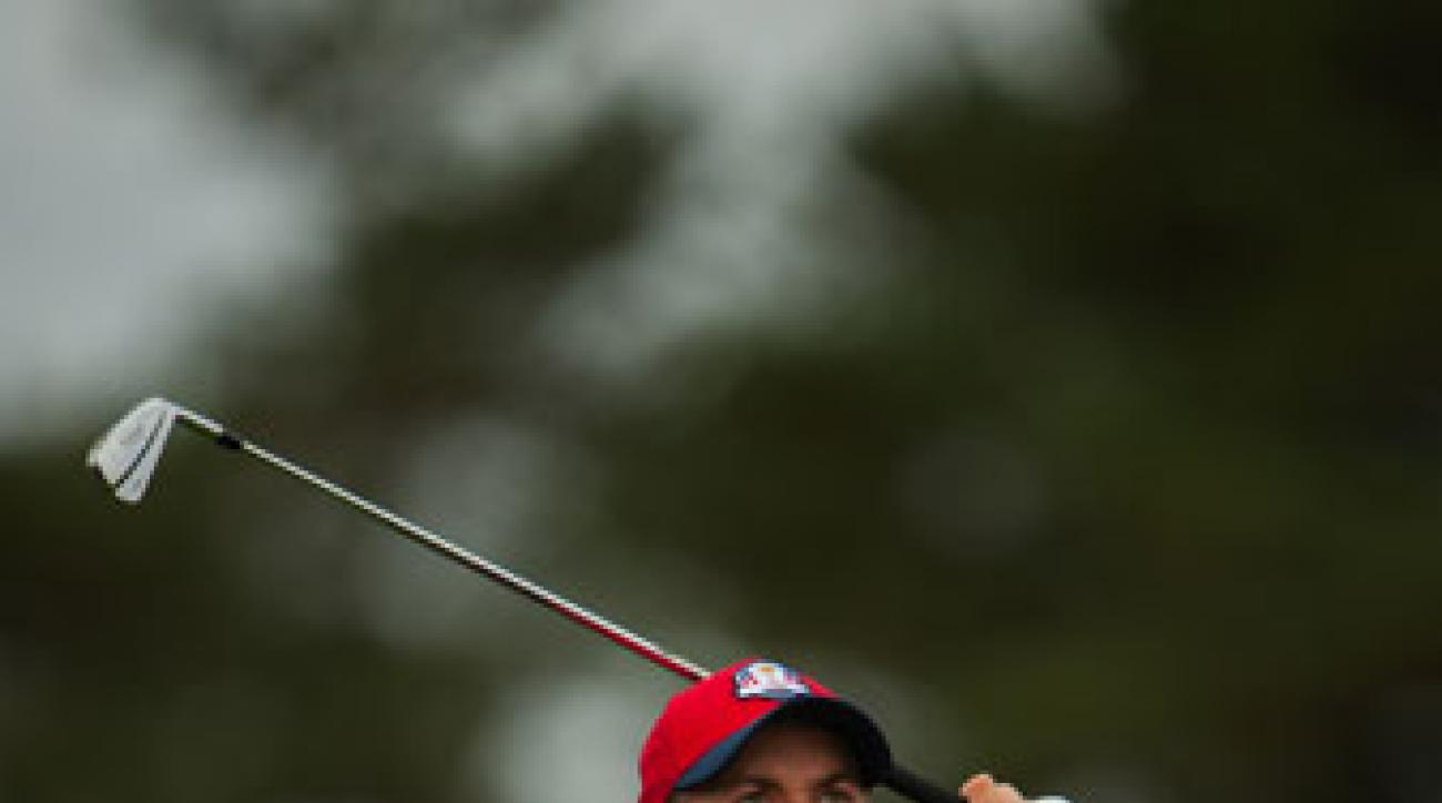 Webb Simpson made sure captain Tom Watson knew he wanted to be on the American Ryder Cup team.