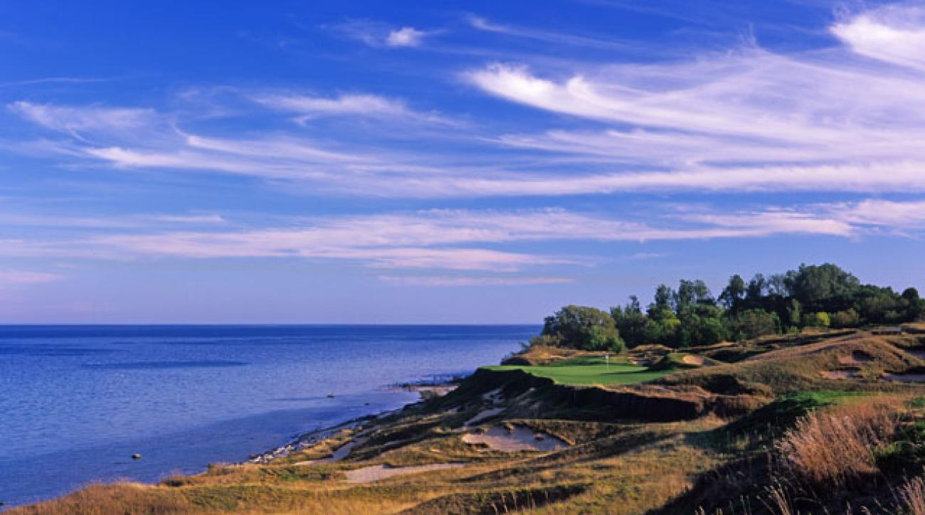 Herb Kohler and Pete Dye created Whistling Straits in 1998 on land that had previously been used as a dump.