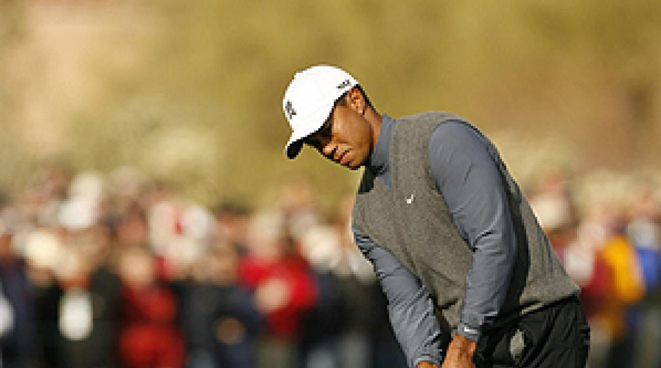 Tiger Woods touch around the greens has helped him win scores of tournaments.