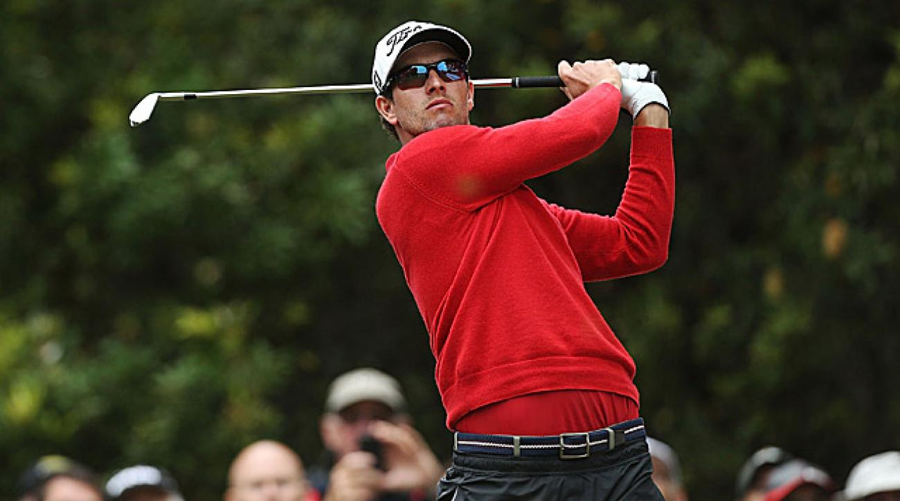 Adam Scott shot a two-under 70 in the second round.